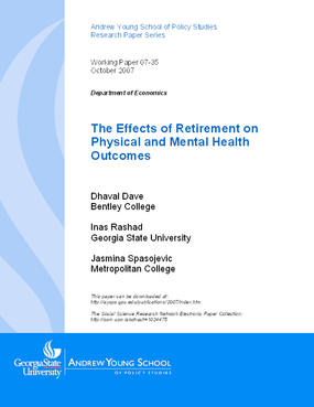 The Effects of Retirement on Physical and Mental Health Outcomes