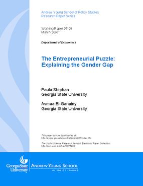 The Entrepreneurial Puzzle: Explaining the Gender Gap