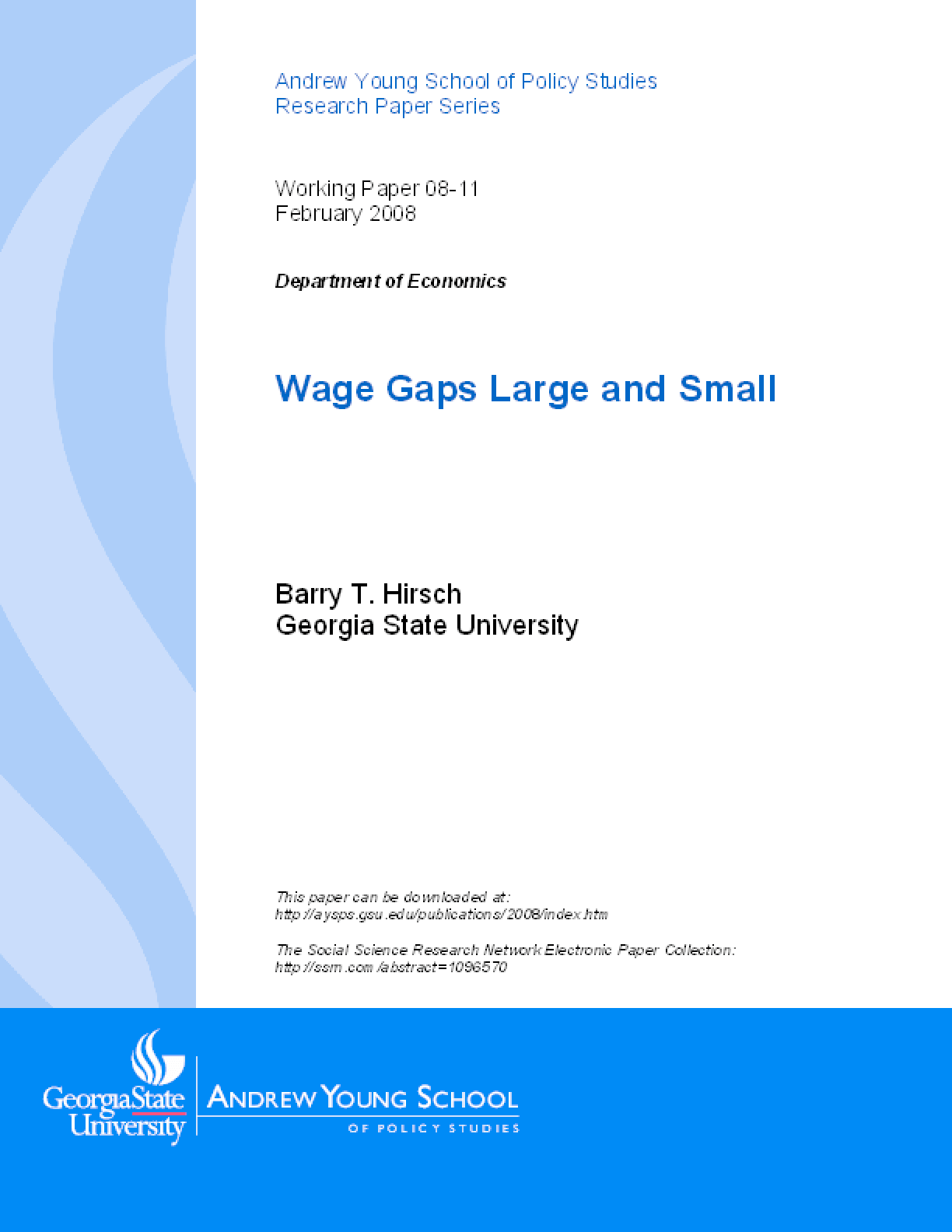 Wage Gaps Large and Small