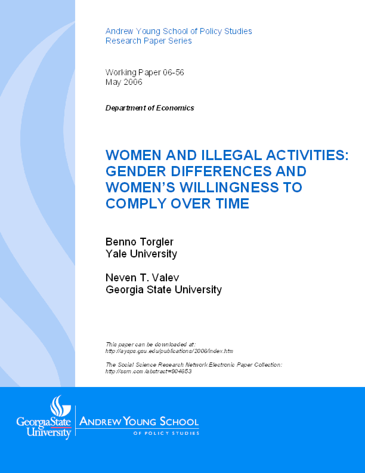 Women and Illegal Activities: Gender Differences and Women's Willingness to Comply Over Time