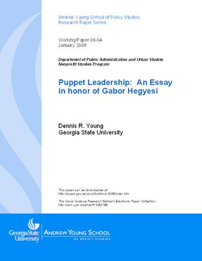 Puppet Leadership: An Essay in honor of Gabor Hegyesi