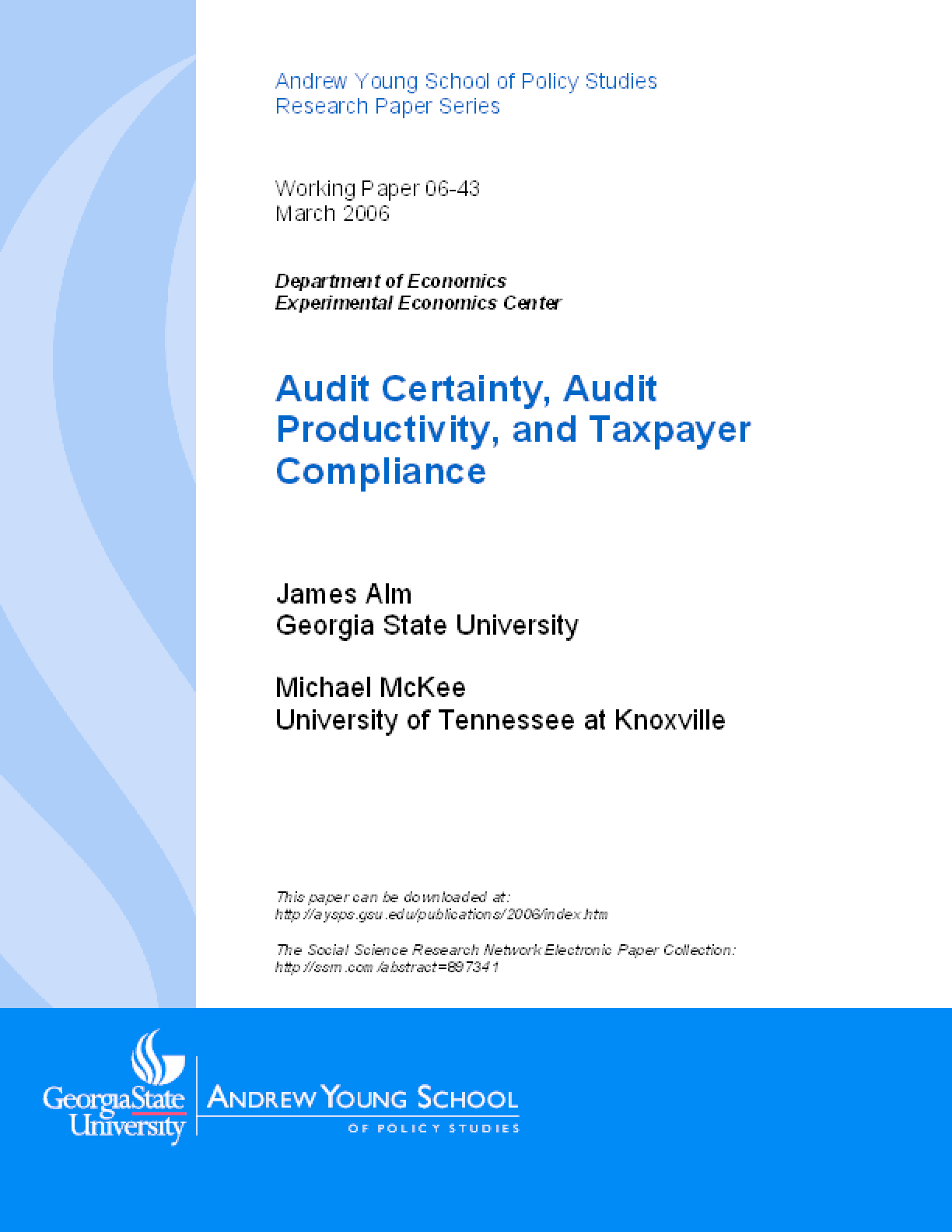 Audit Certainty, Audit Productivity, and Taxpayer Compliance