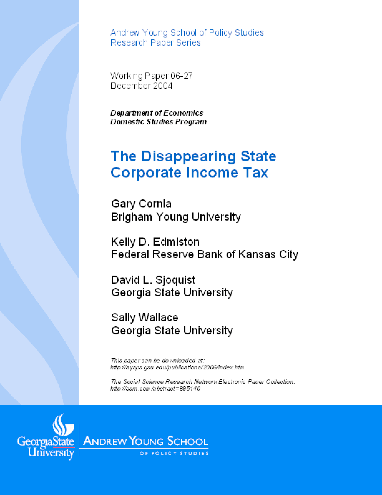 The Disappearing State Corporate Income Tax