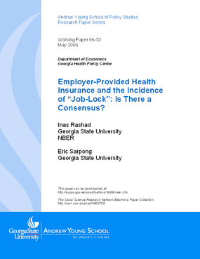 "Employer-Provided Health Insurance and the Incidence of ""Job-Lock"": Is There a Consensus?"