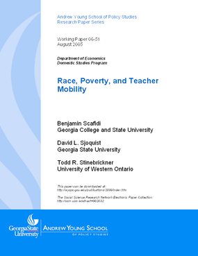 Race, Poverty, and Teacher Mobility
