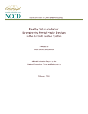 Healthy Returns Initiative: Strengthening Mental Health Services in the Juvenile Justice System