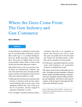 Where the guns come from: The gun industry and gun commerce.