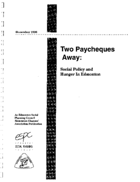 Two Paycheques Away: Social Policy and Hunger in Edmonton