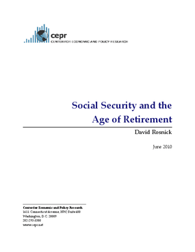 Social Security and the Age of Retirement