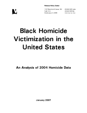 Black Homicide Victimization in the United States: An Analysis of 2004 Homicide Data