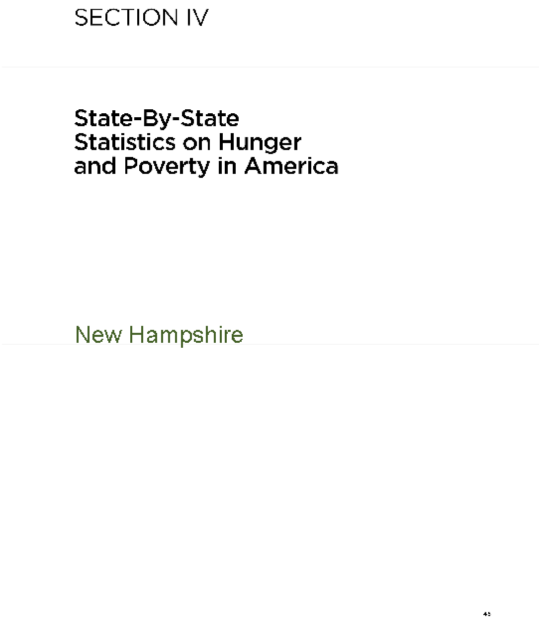The Almanac of Hunger and Poverty in America 2010: New Hampshire