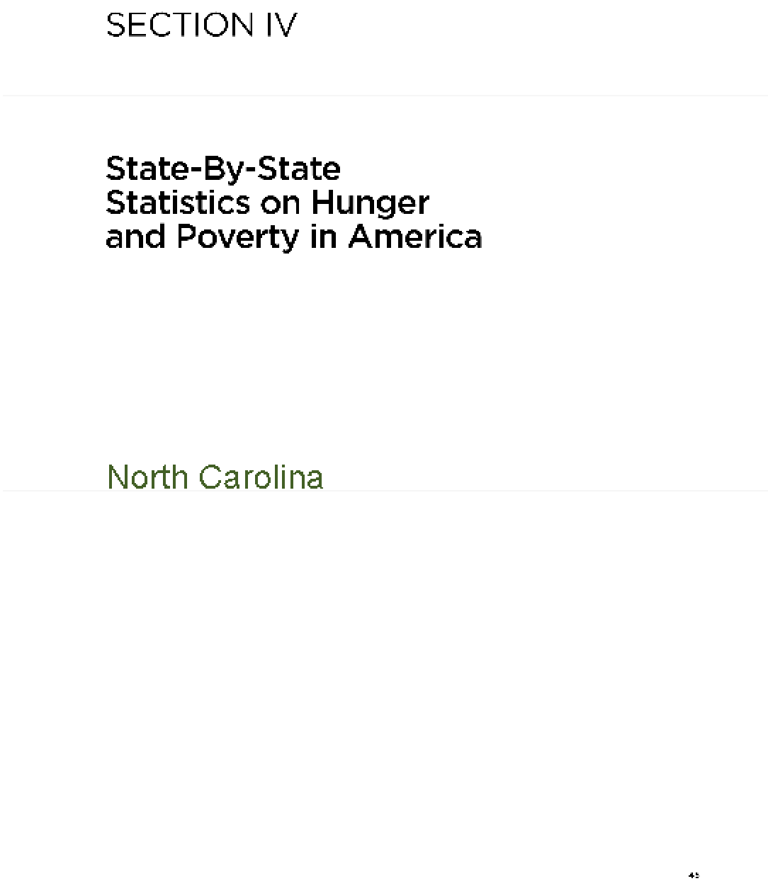 The Almanac of Hunger and Poverty in America 2010: North Carolina