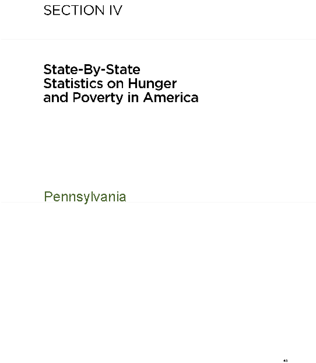 The Almanac of Hunger and Poverty in America 2010: Pennsylvania