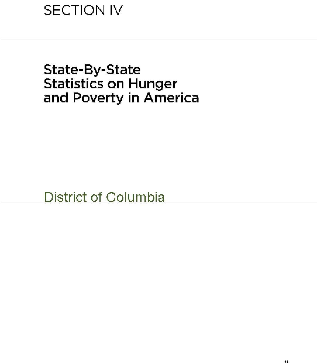 The Almanac of Hunger and Poverty in America 2010: Washington DC