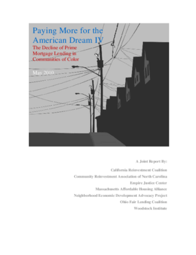 Paying More for the American Dream IV: The Decline of Prime Mortgage Lending in Communities of Color