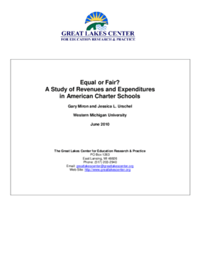 Equal or Fair? A Study of Revenues and Expenditures in American Charter Schools
