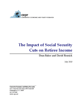 The Impact of Social Security Cuts on Retiree Income