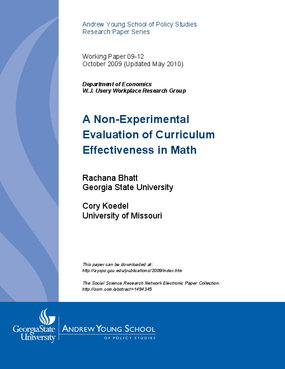 A Non-Experimental Evaluation of Curriculum Effectiveness in Math