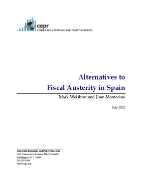 Alternatives to Fiscal Austerity in Spain
