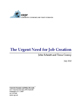 The Urgent Need for Job Creation