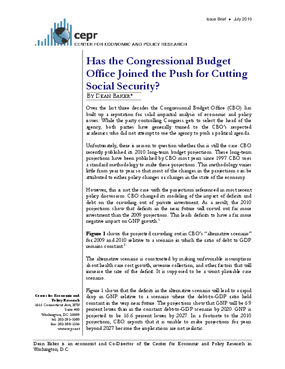 Has the Congressional Budget Office Joined the Push for Cutting Social Security?