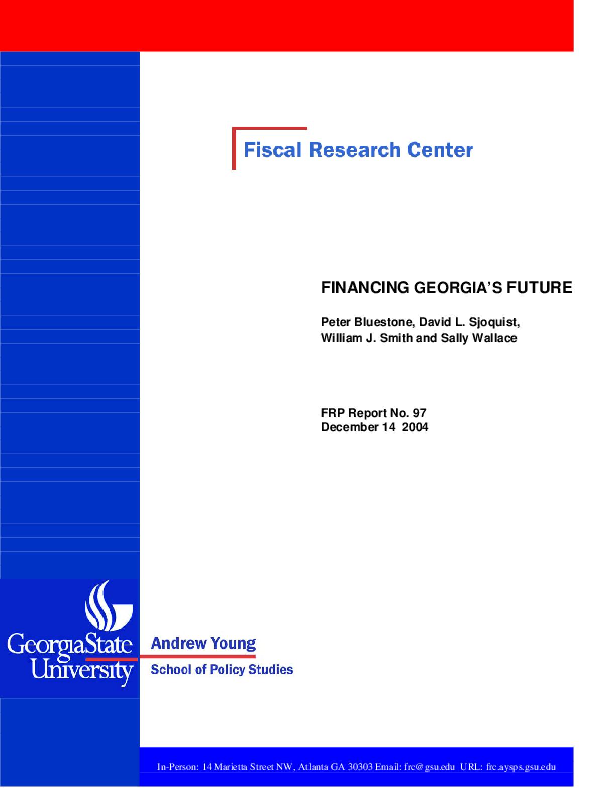 Financing Georgia's Future