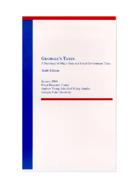 Georgia's Taxes: A Summary of Major State and Local Government Taxes (Tenth Edition)