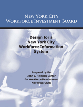 Design for a New York City Workforce Information System