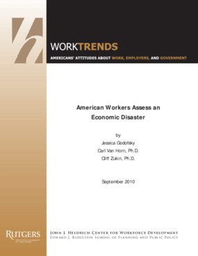 American Workers Assess an Economic Disaster
