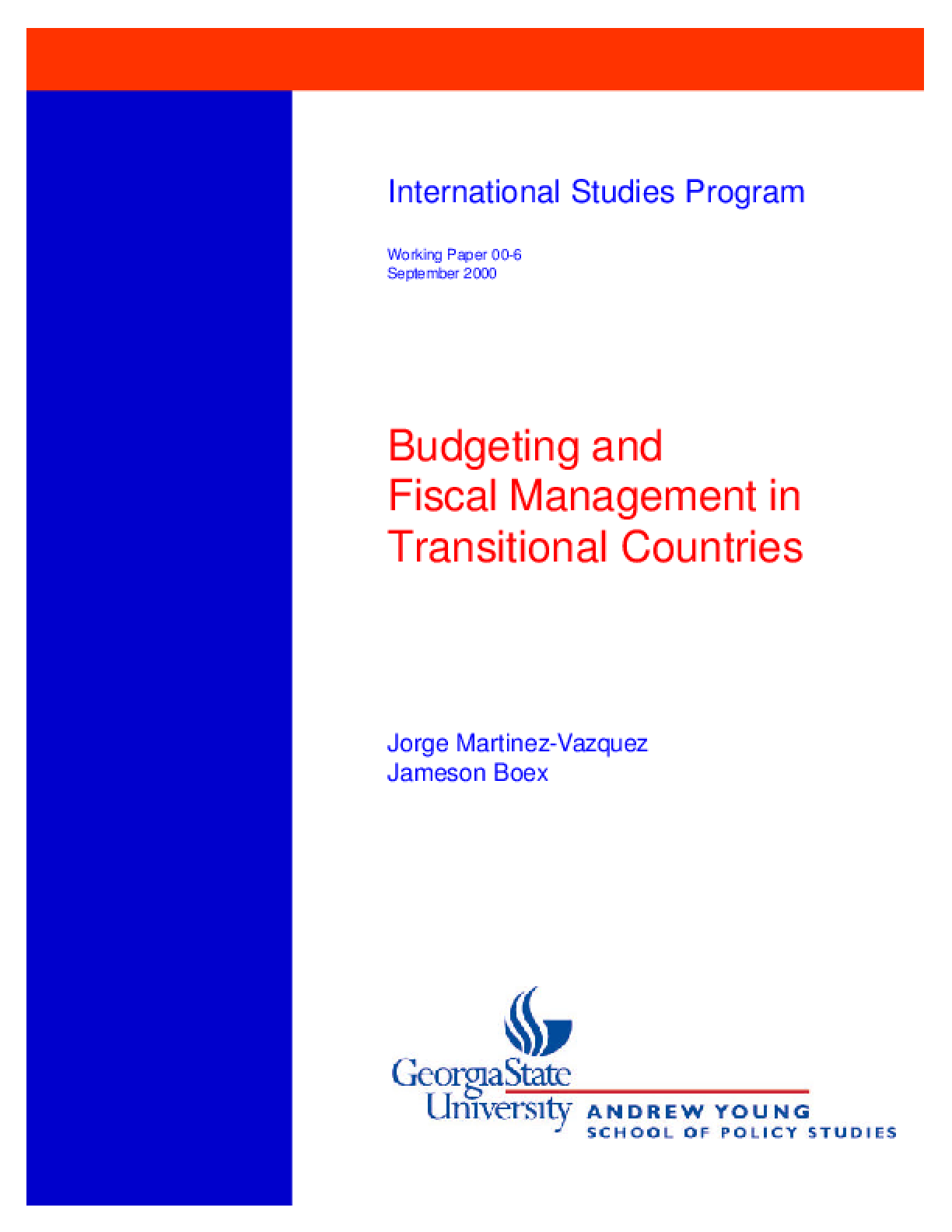 Budgeting and Fiscal Management in Transitional Economies