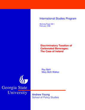 Discriminatory Taxation of Carbonated Beverages: the Case of Ireland
