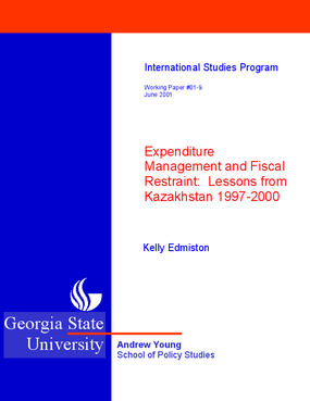 Expenditure Management and Fiscal Restraint: Lessons from Kazakhstan 1997-2000