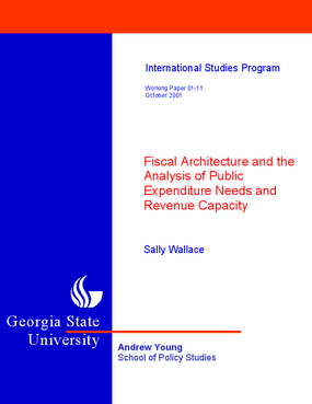 Fiscal Architecture and the Analysis of Public Expenditure Needs and Revenue Capacity
