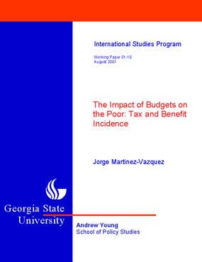 The Impact of Budgets on the Poor: Tax and Benefit