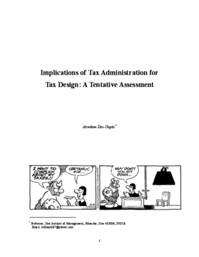 Implications of Tax Administration for Tax Design: a Tentative Assessment