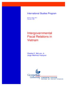 Intergovernmental Fiscal Relations in Vietnam