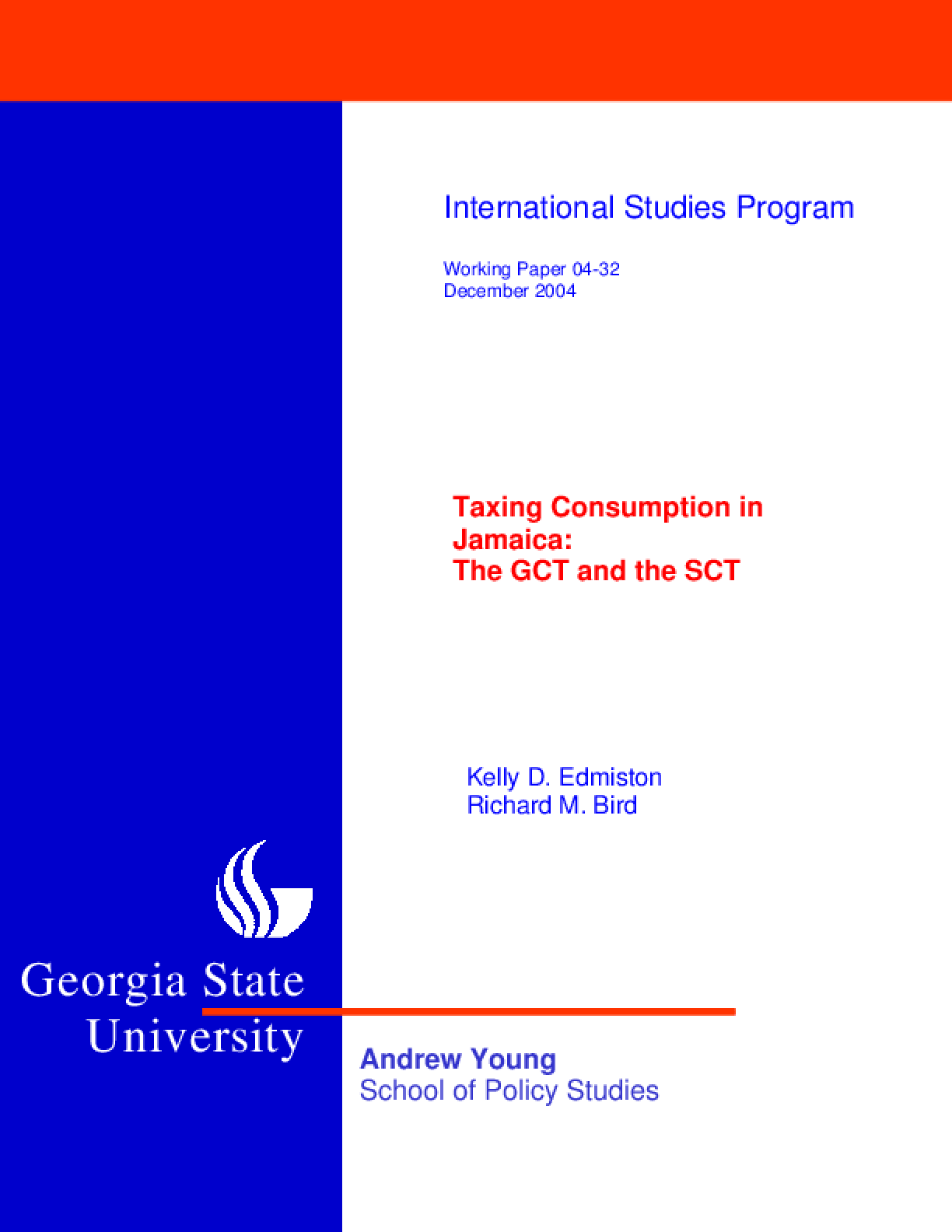 Taxing Consumption in Jamaica: the GCT and the SCT