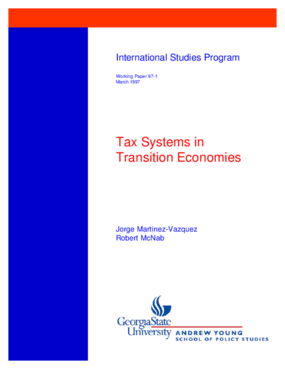 Tax Systems in Transition Economies