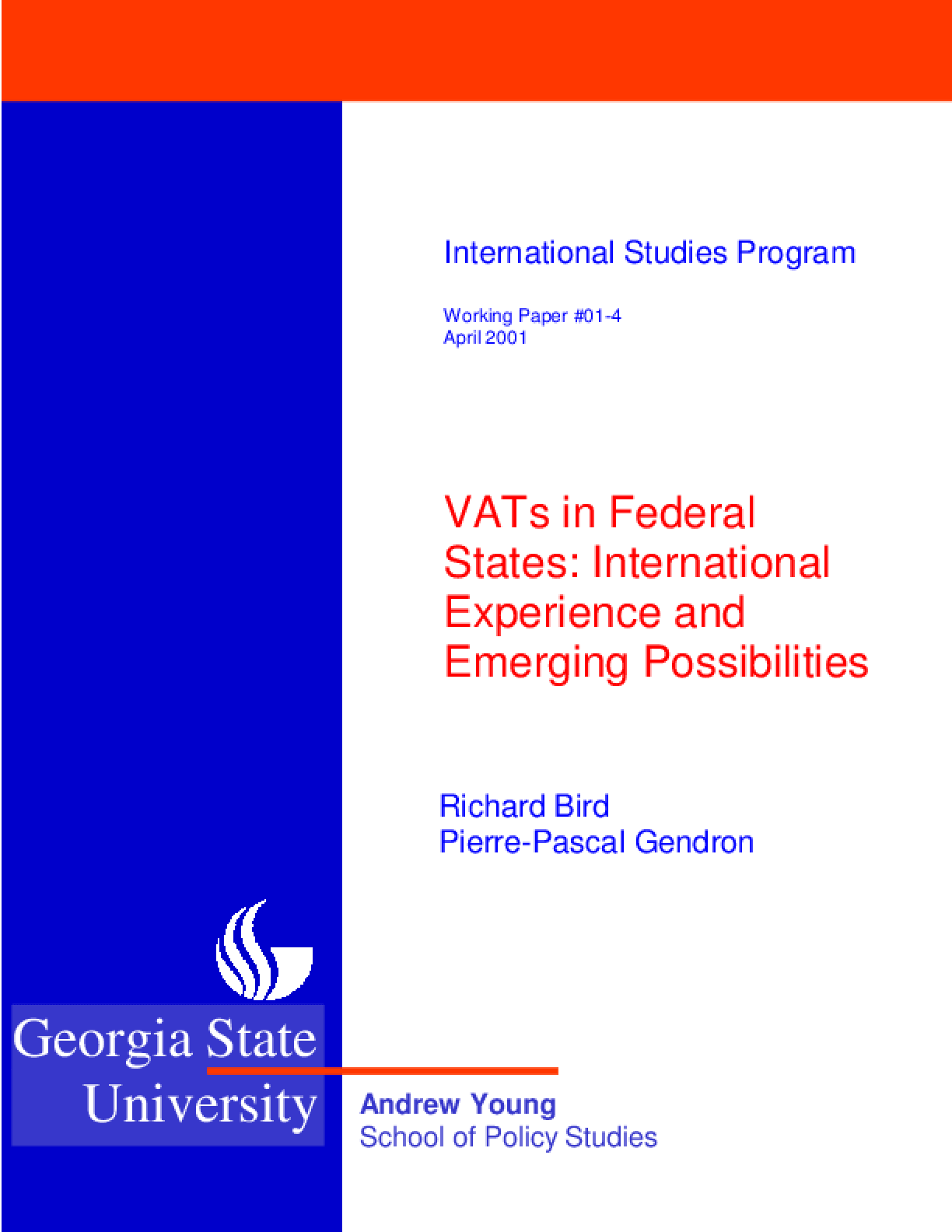 VATs in Federal States: Experiences and Emerging Possibilities