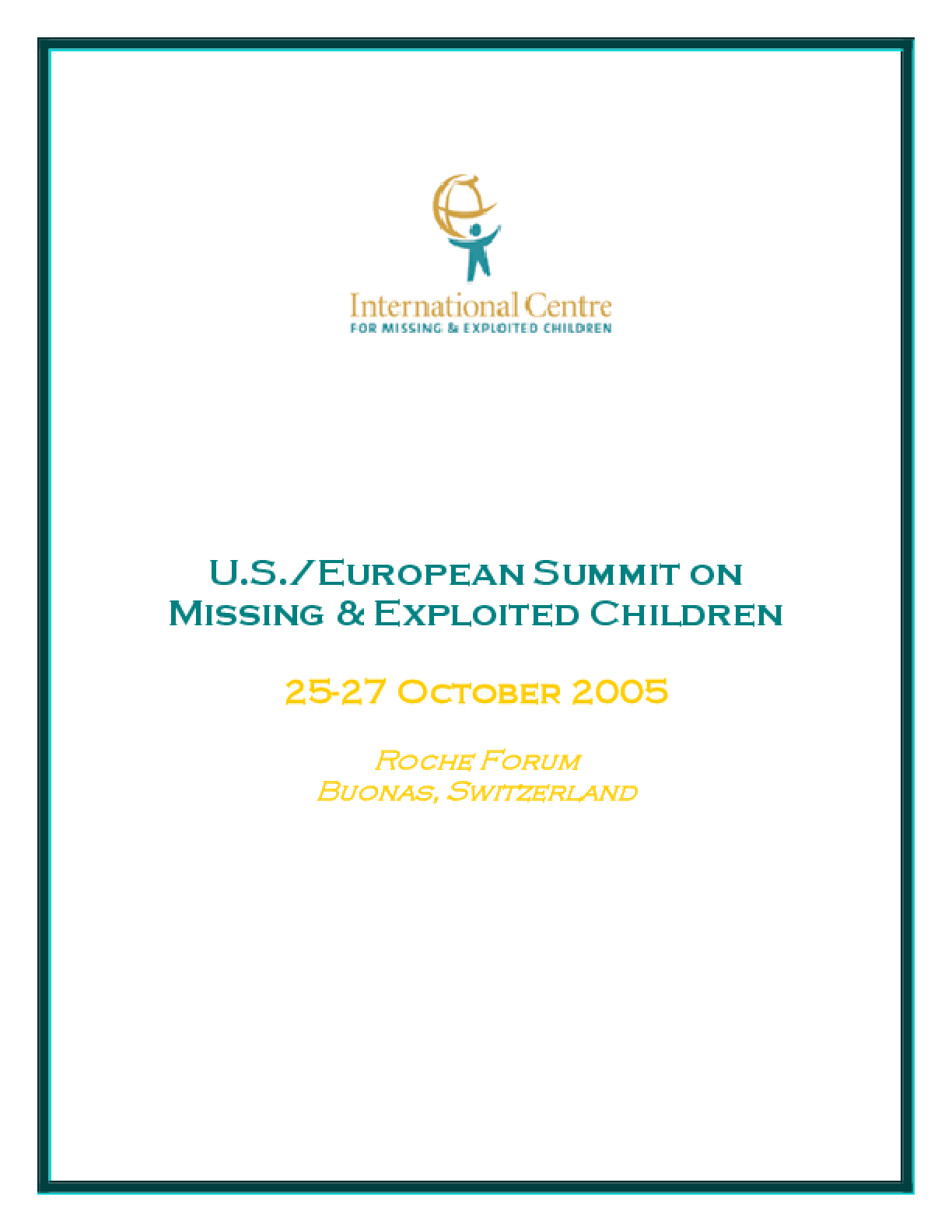 U.S./European Summit on Missing & Exploited Children
