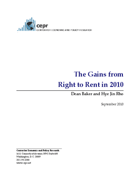 The Gains from Right to Rent in 2010