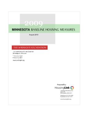 2009 Minnesota Baseline Housing Measures