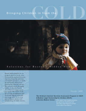 Bringing Children in from the Cold: Solutions for Boston's Hidden Homeless