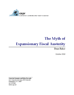 The Myth of Expansionary Fiscal Austerity
