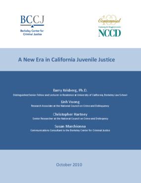 A New Era in California Juvenile Justice