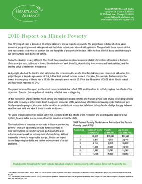2010 Report on Illinois Poverty