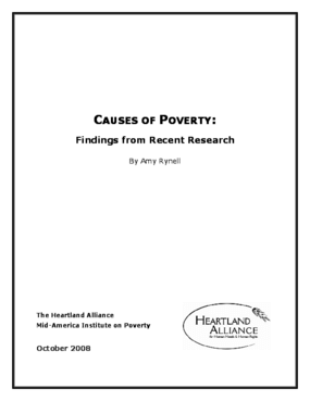 Causes of Poverty: Findings from Recent Research