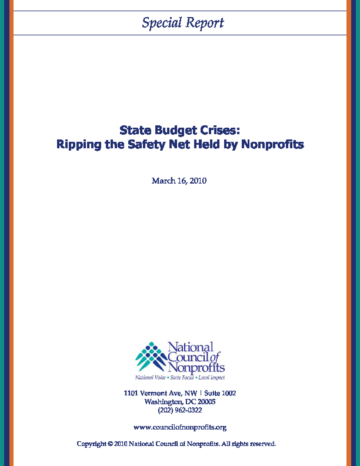 State Budget Crises: Ripping the Safety Net Held by Nonprofits
