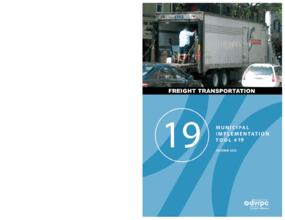 Municipal Implementation Tool #19 - Freight Transportation