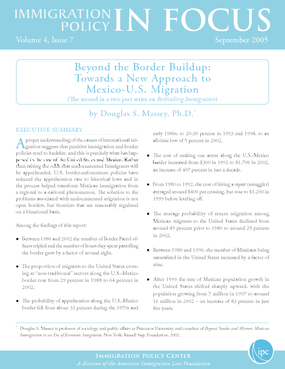 Beyond the Border Buildup: Towards a New Approach to Mexico-U.S. Migration